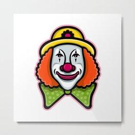 Circus Clown Mascot Metal Print