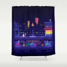 A Blob and his Boy Shower Curtain