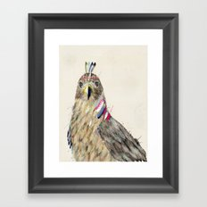 the hawk Framed Art Print