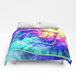 Spinning Tie Dye Abstract Comforters