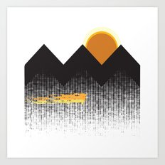 Sun Mountain Art Print