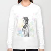 pride and prejudice Long Sleeve T-shirts featuring Pride and Prejudice by Wadart