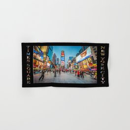 Times Square Sparkle (with type on black) Hand & Bath Towel