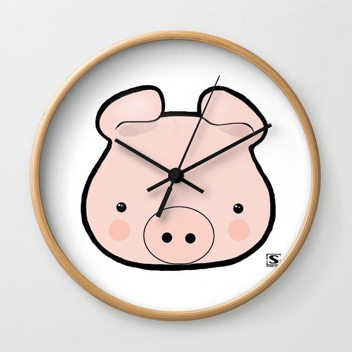 Piggy Kawaii Wall Clock