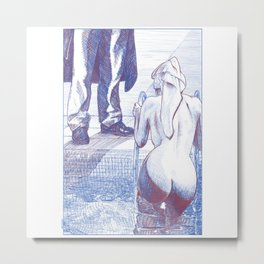 asc 858 - L'investigation privée (The private eye) - sketch Metal Print