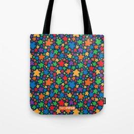 Funky Meeple Pattern Tote Bag