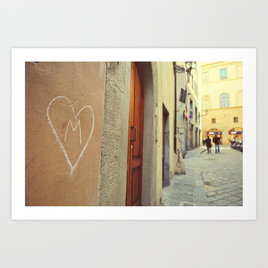 M - Heart  Art Print