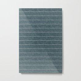 farmhouse stripes - stone blue Metal Print
