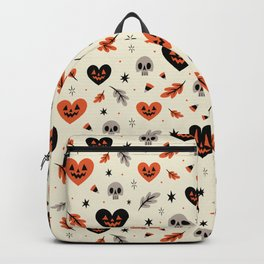 I Heart Fall Pattern Backpack