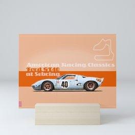 GT40 at Sebring Mini Art Print