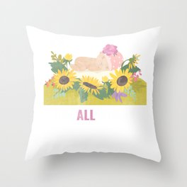 Equal Rights Anti Abortion Pro Life Gift Design Idea Throw Pillow
