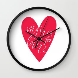 Virginia is for Lovers Wall Clock