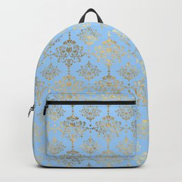 Elegant Gold Floral Pattern Backpack