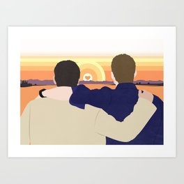True Love Sunset Art Print