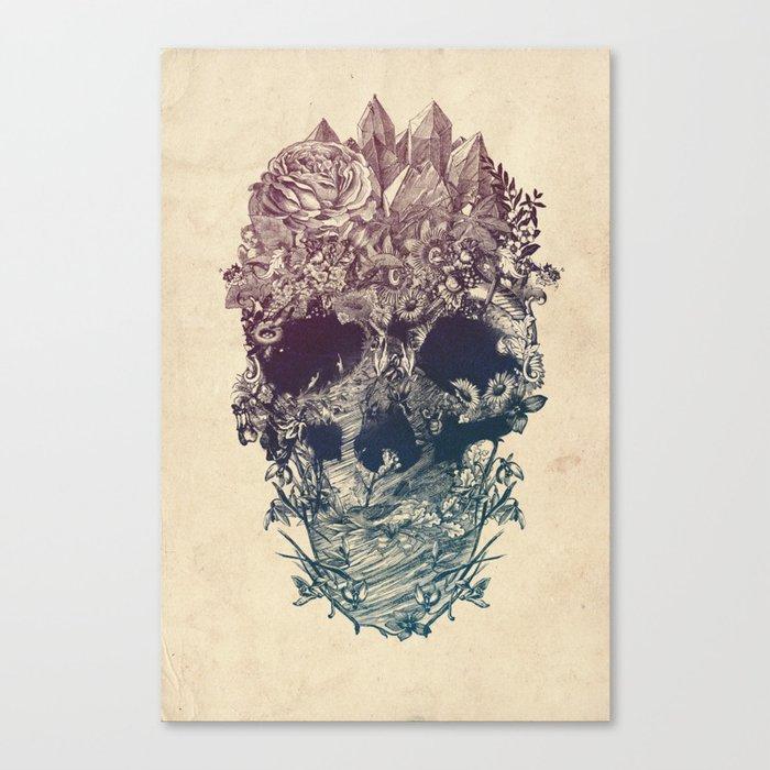 Skull Floral Leinwanddruck