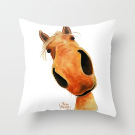 Happy Horse ' NuGGeT ' by Shirley MacArthur Throw Pillow