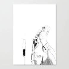 the shrimp sucker Canvas Print