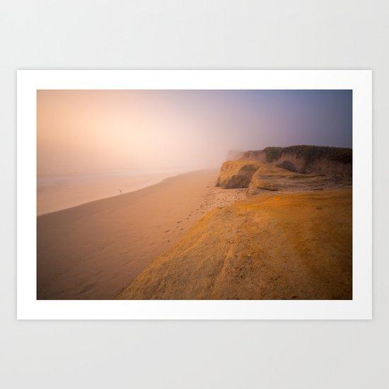 Alone In the Fog Art Print