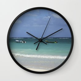 Carribean sea 12 Wall Clock