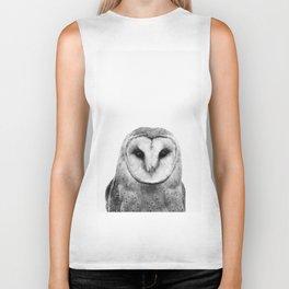 Black and white Owl Biker Tank