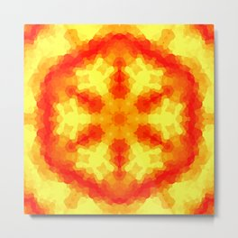 Fire Kaleidoscope 2 Metal Print