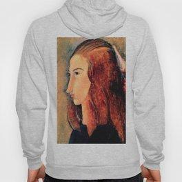 "Amedeo Modigliani ""Portrait of a young woman (Profile of Jeanne Hebuterne)"" Hoody"