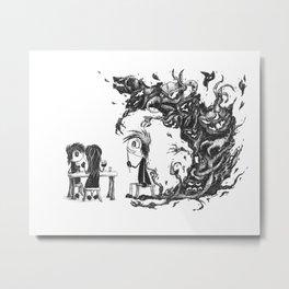Emo Boy - Anxiety Metal Print