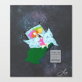 take me and make me your astrology Canvas Print