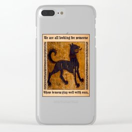 Black Wolf Clear iPhone Case