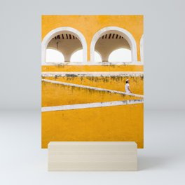 Colonial Mexico, Izamal in Yellow #buyart #society6 #decor Mini Art Print