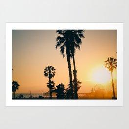 California Dreaming; Summer Beachside Sunset Art Print