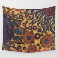 batik Wall Tapestries featuring Summertime Batik by Hooey Batiks