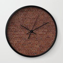 Brooklyn NYC Loft Apartment Brown Stone Brick Wall Wall Clock
