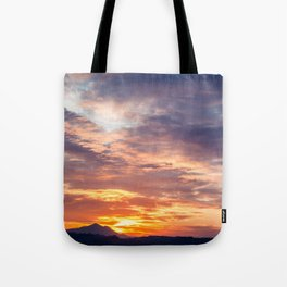 Sunset in the bay of Naples, Italy Tote Bag