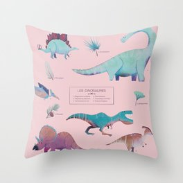 Les dinosaures Throw Pillow