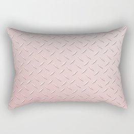 Diamond Plate Pink Rectangular Pillow
