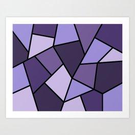 Promiscuous Purple Mosaic Art Print