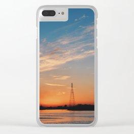 Savannah Sunset Clear iPhone Case