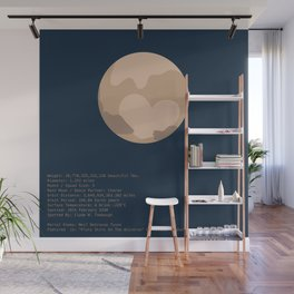 Pluto Facts Wall Mural