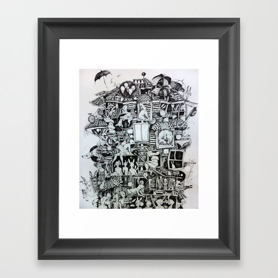 Waiting home Framed Art Print