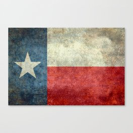 Texas State Flag, Retro Style Canvas Print