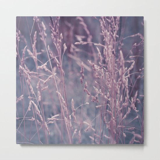 WHISPERING GRASS Metal Print