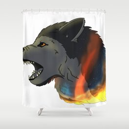 Space Wolf! Shower Curtain
