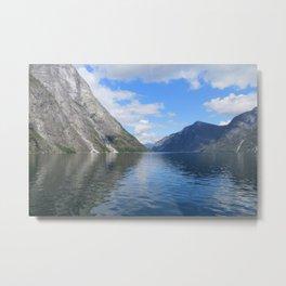 Fjord in Norway Metal Print