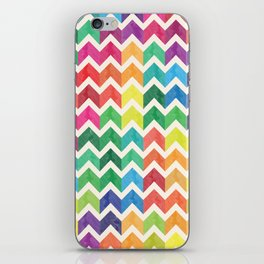Watercolor Chevron Pattern IV iPhone Skin