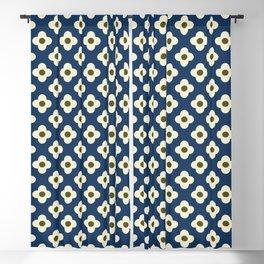 Retro Floral Pattern Scandinavian Blackout Curtain