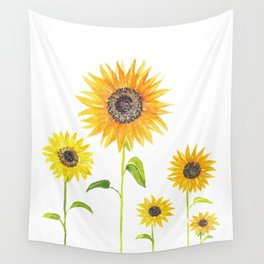 Sunflowers Watercolor Painting Wall Tapestry