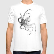 Octopus White MEDIUM Mens Fitted Tee