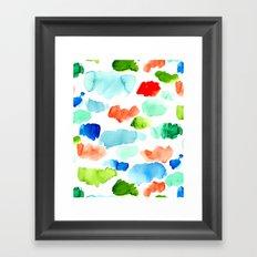 Watercolor Swatch Pattern Framed Art Print