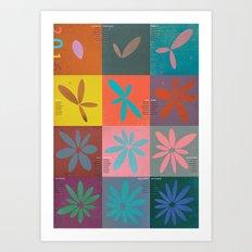 poster calendar 2016 Art Print